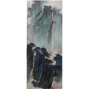 高顺岭国画作品《【溪山探幽图】作者高顺岭》价格9600.00元