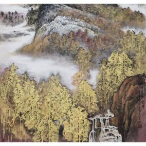 高顺岭国画作品《【金碧雲壑图】作者高顺岭》价格38400.00元