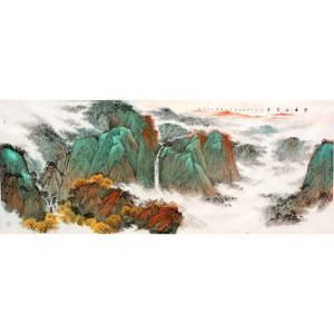 高顺岭国画作品《【日出】作者高顺岭》价格211200.00元