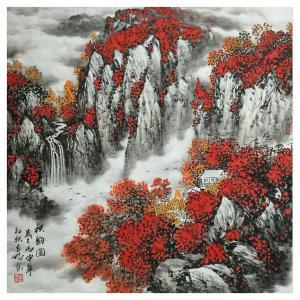 万吉鹏国画作品《【秋韵图】作者万吉鹏》价格4800.00元