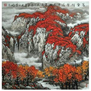 万吉鹏国画作品《【万壑树声满】作者万吉鹏》价格4800.00元