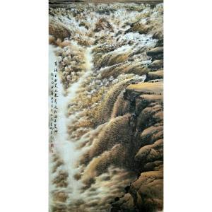 万吉鹏国画作品《【黄河之水天上来】作者万吉鹏》价格16800.00元
