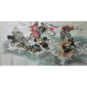 高锐锋国画作品《【八仙过海】作者高锐锋》价格312.00元