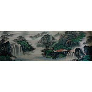 韦杰球国画作品《【高山流水61】作者韦杰球》价格720.00元