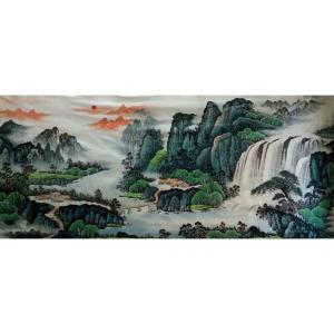 韦杰球国画作品《【高山流水62】作者韦杰球》价格720.00元