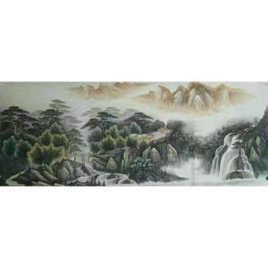 韦杰球国画作品《【高山流水63】作者韦杰球》价格720.00元