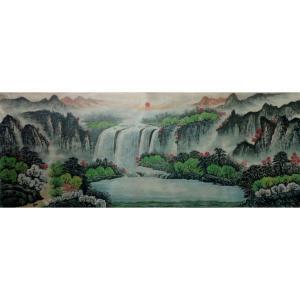 韦杰球国画作品《【高山流水64】作者韦杰球》价格720.00元