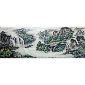 韦杰球国画作品《【高山流水65】作者韦杰球》价格720.00元