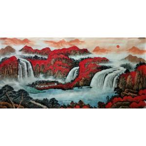 韦杰球国画作品《【高山流水66】作者韦杰球》价格720.00元