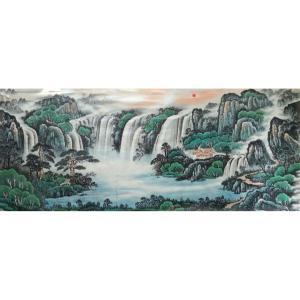 韦杰球国画作品《【高山流水67】作者韦杰球》价格720.00元