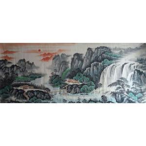 韦杰球国画作品《【高山流水68】作者韦杰球》价格720.00元