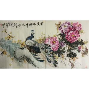 王长泉国画作品《富贵祥瑞醉春晖》价格1000.00元