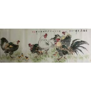 王长泉国画《五福送吉祥》