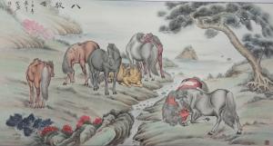 杨金鹏国画作品《【八骏图1】作者杨金鹏》价格360.00元