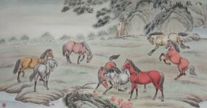 杨金鹏国画作品《【八骏图2】作者杨金鹏》价格360.00元