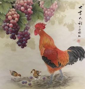 周卫红文玩杂项作品《葡萄树下》价格600.00元