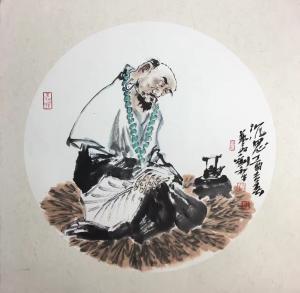 刘和平文玩杂项作品《沉思》价格4000.00元