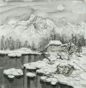 张丙强文玩杂项作品《雪景》价格1200.00元
