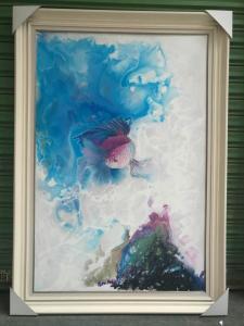 徐继良油画作品《梦幻斗鱼》价格1600.00元