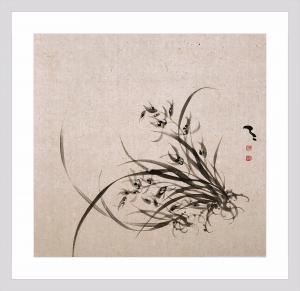 周牧天国画作品《国画兰花》价格1800.00元