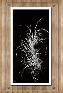 周牧天国画作品《兰花》价格3000.00元