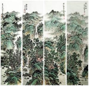 杨振华国画作品《四尺条屏》价格12000.00元