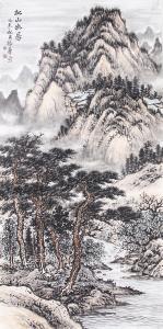 杨振华国画作品《山水》价格8000.00元