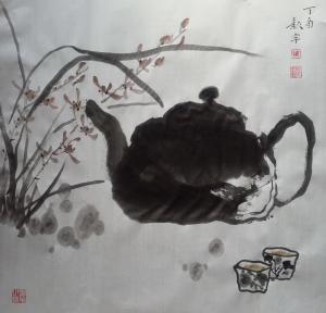 金新宇国画作品《天下一壶》价格3000.00元