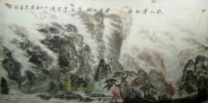 赵运泉国画作品《风入寒松声自古》价格8000.00元