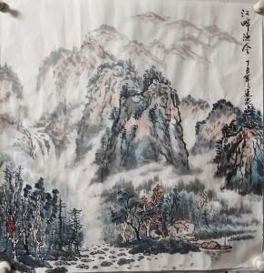 赵运泉国画作品《江畔渔舍》价格2000.00元