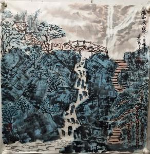 赵运泉国画作品《高山流泉》价格2000.00元