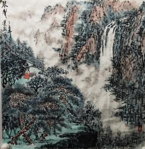 赵运泉国画作品《琴聲》议价