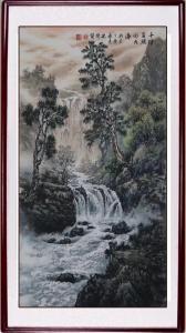 冯建德国画作品《冯建德彩墨山水》价格4800.00元