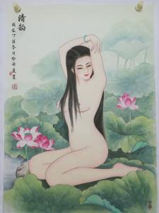 徐景莲国画作品《清韵》价格1000.00元