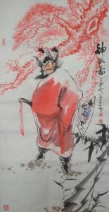 何学忠国画作品《神威图》价格1000.00元
