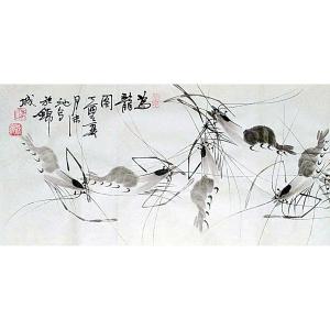 李沫池国画《为龙图》