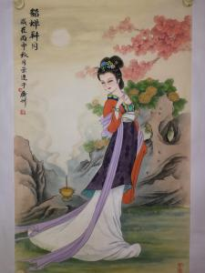 徐景莲国画作品《貂蝉拜月》价格700.00元
