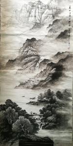 李崇山国画作品《刚完成的现有作品》议价