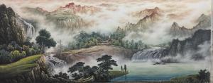 冯建德国画作品《青山和风至》价格8800.00元