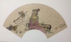 宋荣杰国画作品《知己图》价格3000.00元