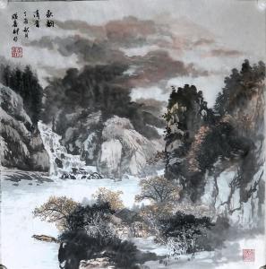 张喜才国画作品《秋韵清音》议价