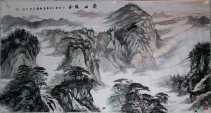 张喜才国画作品《泰山雄姿》议价