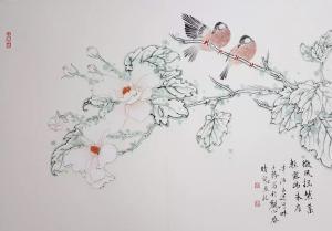 安士胜国画作品《花鸟》议价