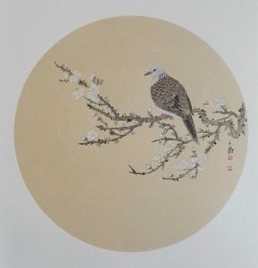 安士胜国画作品《花鸟》价格3000.00元
