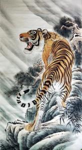 王振立国画作品《王振立.王者雄风》价格1500.00元