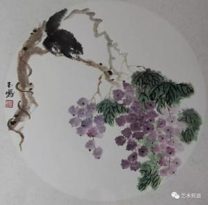 李玉凤国画《秋趣》