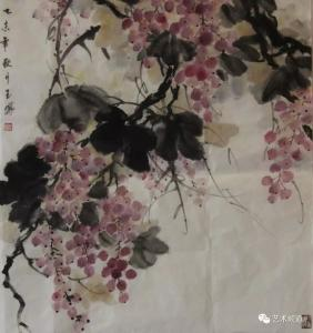 李玉凤国画《秋实》