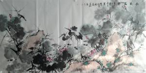 邢坤国画作品《荷塘情趣》价格3000.00元