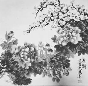卢凤喜国画作品-《春韵》