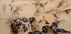 侯峻山国画作品《白居易诗意》价格16000.00元